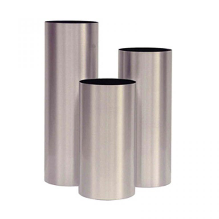 Cylindrical Metal Planters