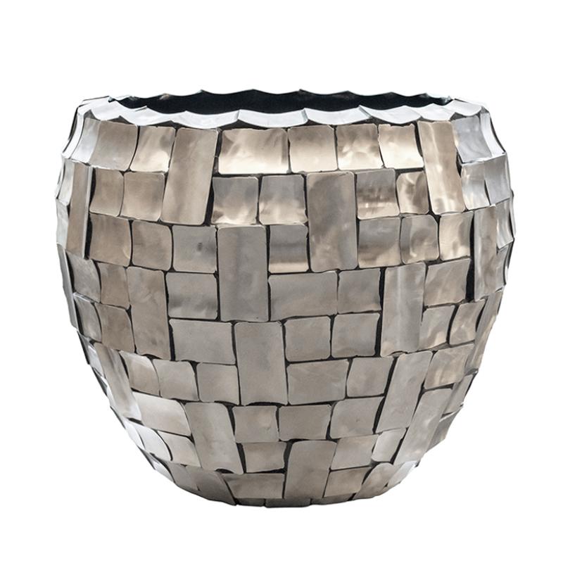 Fishbowl Broken Shell Planter - Silver