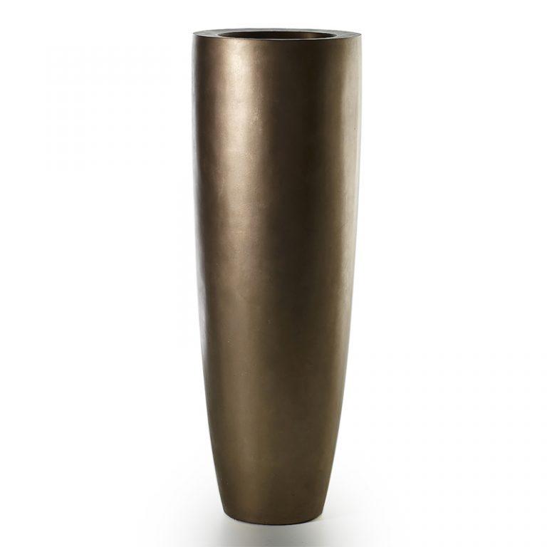 Round Metal Bullet Planter