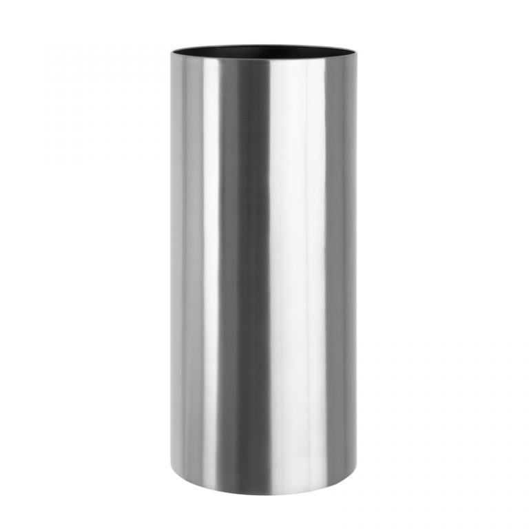 Tall Round Metal Planter - Gloss Finish